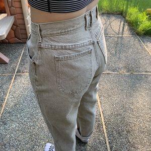 Vintage Lee tan colored denim jeans